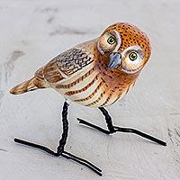 Ceramic figurine, 'Elf Owl'