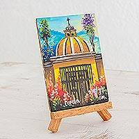 Decor accessory, 'Dome' - Painted Decor Accessory of a Dome from Guatemala