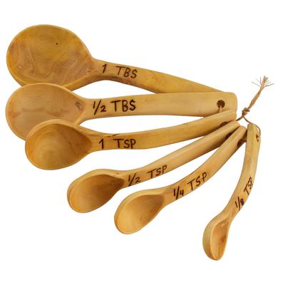 Wood measuring spoons, 'Taste of Guatemala' - Coffee Tree Wood Measuring Spoons from Guatemala