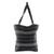 Cotton tote bag, 'Tactic Stripes in Black' - Handwoven Striped Cotton Tote Bag in Black from Guatemala (image 2c) thumbail