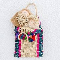 Natural fiber nativity wall hanging, 'Bundled in Love' - Natural Fiber Nativity Wall Hanging