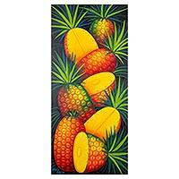 'Pineapples' - Signed Painting of Pineapples from Guatemala
