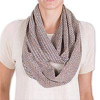 Cotton infinity scarf, 'Breezy Day' - Hand Woven Cotton Infinity Scarf from Guatemala
