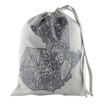 100% Cotton Tote Bag with Design in the Shape of Guatemala