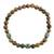 Jade and tiger's eye beaded stretch bracelet, 'Authentic Beauty' - Jade and Tiger's Eye Beaded Stretch Bracelet from Guatemala thumbail