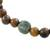 Jade and tiger's eye beaded stretch bracelet, 'Authentic Beauty' - Jade and Tiger's Eye Beaded Stretch Bracelet from Guatemala (image 2d) thumbail