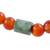 Jade and agate beaded stretch bracelet, 'Mountain Daybreak' - Jade and Orange Agate Beaded Stretch Bracelet from Guatemala (image 2d) thumbail