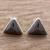 Jade stud earrings, 'Triangle Mystique' - Black Jade and Sterling Silver Triangle Stud Earrings (image 2) thumbail