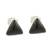 Jade stud earrings, 'Triangle Mystique' - Black Jade and Sterling Silver Triangle Stud Earrings thumbail