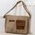 Faux leather messenger bag, 'Preparedness in Burnt Sienna' - Faux Leather Messenger Bag in Burnt Sienna from Costa Rica thumbail
