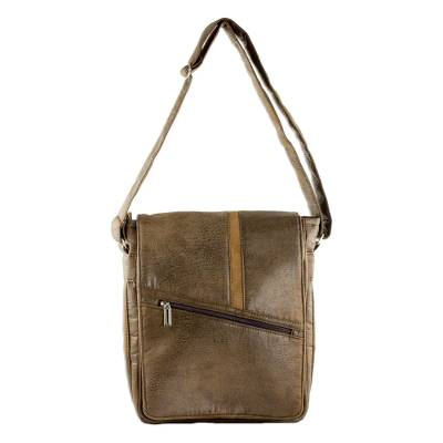 Faux Leather Messenger Bag in Spice from Costa Rica