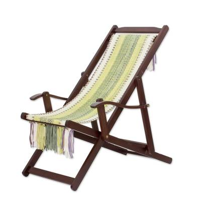 Adjustable Wood Frame Recycled Cotton Blend Hammock Chair