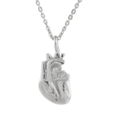 Handcrafted Sterling Silver True Heart Pendant Necklace