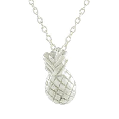 Handcrafted Sterling Silver Pineapple Pendant Necklace