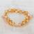 Glass beaded bracelet, 'Multi-Faceted Sparkle' - Clear Faceted Czech Glass Bead Bracelet from Costa Rica (image 2b) thumbail