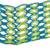 Cotton macramé headband, 'Grassy Shores' - Handcrafted Yellow and Blue Stripe Cotton Macramé Headband (image 2b) thumbail