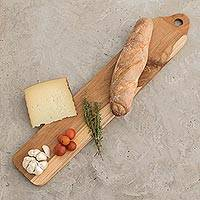 Teakwood breadboard, 'Family Favorite' - Sustainably Harvested Teakwood Bread Board