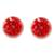 Natural flower button earrings, 'Eternal Bouquet in Red' - Red Flower in Clear Resin Button Earrings from Costa Rica (image 2a) thumbail