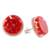 Natural flower button earrings, 'Eternal Bouquet in Red' - Red Flower in Clear Resin Button Earrings from Costa Rica (image 2c) thumbail