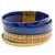 Faux leather wristband bracelet, 'Afternoon Chic' - Blue and Golden Beige Faux Leather Wristband Bracelet (image 2a) thumbail
