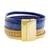 Faux leather wristband bracelet, 'Afternoon Chic' - Blue and Golden Beige Faux Leather Wristband Bracelet (image 2c) thumbail