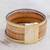 Faux leather wristband bracelet, 'Neutral Splash' - Golden Beige Four Band Faux Leather Wristband Bracelet (image 2b) thumbail