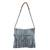 Recycled cotton blend shoulder bag, 'Woven Clouds' - Recycled Cotton Blend Handwoven Grey Fringed Handbag (image 2a) thumbail