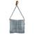 Recycled cotton blend shoulder bag, 'Woven Clouds' - Recycled Cotton Blend Handwoven Grey Fringed Handbag (image 2c) thumbail