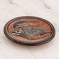 Ceramic mini decorative bowl, 'Costa Rican Sea Turtle' - Sea Turtle Ceramic Mini Decorative Bowl from Costa Rica