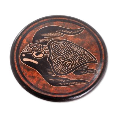 Sea Turtle Ceramic Mini Decorative Bowl from Costa Rica