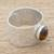 Tiger's eye wrap ring, 'Simply Abstract' - Tiger's Eye and Aluminum Single-Stone Ring from Guatemala (image 2b) thumbail