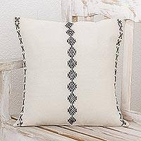 Cotton cushion cover, 'Elegant Rhombi' - Geometric Cotton Cushion Cover from Guatemala