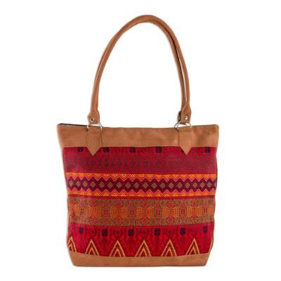 Novica Cotton tote, Magic Shapes