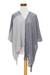 Cotton poncho, 'Textures of Guatemala' - Guatemalan Handwoven Natural and Recycled Cotton Poncho (image 2d) thumbail