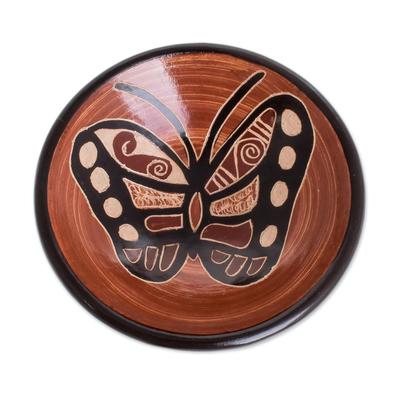 Butterfly Ceramic Mini Decorative Bowl from Costa Rica