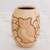 Ceramic decorative vase, 'Wisdom and Intuition in Beige' - Handcrafted Ceramic Decorative Vase from Nicaragua thumbail