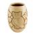 Ceramic decorative vase, 'Wisdom and Intuition in Beige' - Handcrafted Ceramic Decorative Vase from Nicaragua (image 2a) thumbail