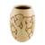 Ceramic decorative vase, 'Wisdom and Intuition in Beige' - Handcrafted Ceramic Decorative Vase from Nicaragua (image 2b) thumbail
