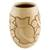 Ceramic decorative vase, 'Wisdom and Intuition in Beige' - Handcrafted Ceramic Decorative Vase from Nicaragua (image 2c) thumbail