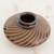 Ceramic decorative vase, 'Spiral Glory' - Handcrafted Terracotta Decorative Vase from Nicaragua (image 2b) thumbail