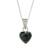 Jade pendant necklace, 'Symbol of Love' - Jade and Sterling Silver Heart Pendant Necklace thumbail