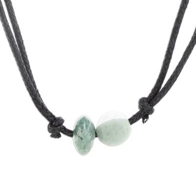 Guatemalan Pendant Necklace with Natural Jade Beads
