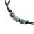 Jade pendant necklace, 'Naturally Verdant' - Adjustable Jade Beaded Pendant Necklace from Guatemala thumbail