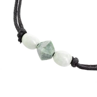 Geometric Jade Pendant Necklace Crafted in Guatemala