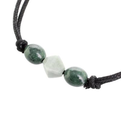 Geometric Jade Pendant Necklace from Guatemala