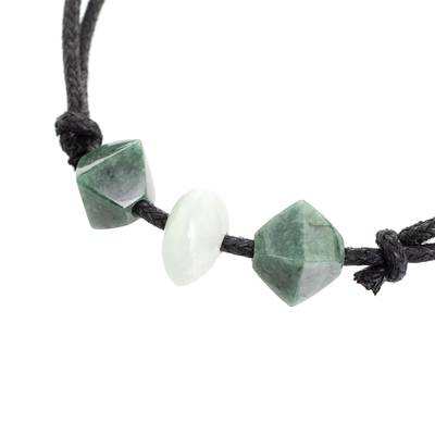 Green Jade Pendant Necklace Crafted in Guatemala