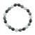 Jade beaded stretch bracelet, 'Light and Shade' - Black Green and Pale Natural Jade Beaded Stretch Bracelet thumbail