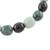 Jade beaded stretch bracelet, 'Light and Shade' - Black Green and Pale Natural Jade Beaded Stretch Bracelet (image 2c) thumbail