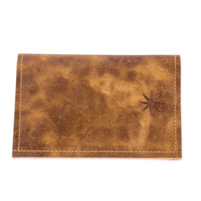 Brown Leather Passport Wallet from Guatemala