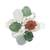 Jade cocktail ring, 'Tide Pools at Sunset' - Multi-Colored Jade Ovals in Sterling Silver Cocktail Ring (image 2a) thumbail